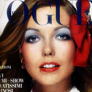 Susan Blakely Italian Vogue Cover 1970 | Vogue issue on the Italian Collections | Photo by Chris von Wangenheim